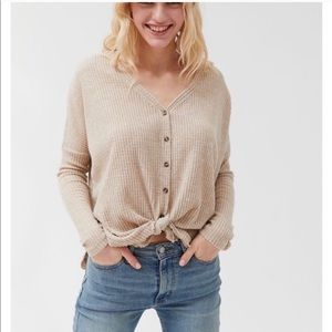 Women's Out From Under long sleeve waffle top
